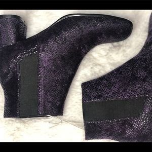Chinese laundry Square Toe Purple Boots